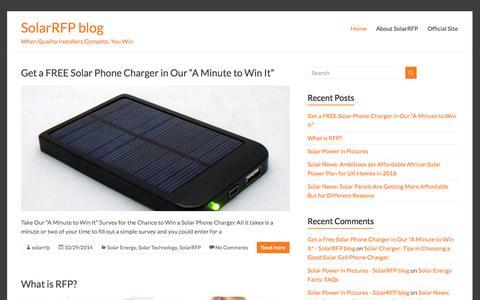 Screenshot of Blog solarrfp.com - SolarRFP Blog - You Best Solar Guide In California - captured Oct. 29, 2014