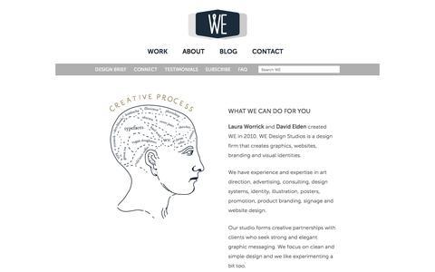 Screenshot of About Page wedesignstudios.com - About • WE Design Studios - captured Sept. 3, 2016
