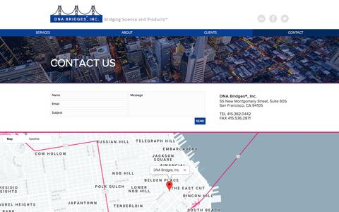 Screenshot of Contact Page dnabridges.com - Contact Us | DNA Bridges - captured Sept. 24, 2018