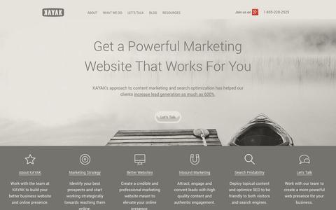 Screenshot of Home Page handyrandy.com - KAYAK is an Online Marketing & SEO firm in Calgary - captured Oct. 2, 2014