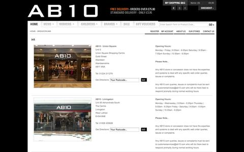 Screenshot of Maps & Directions Page ab10.com - AB10 Designer Clothing | Buy Designer Clothing | Designer Clothes Online - captured Sept. 30, 2014