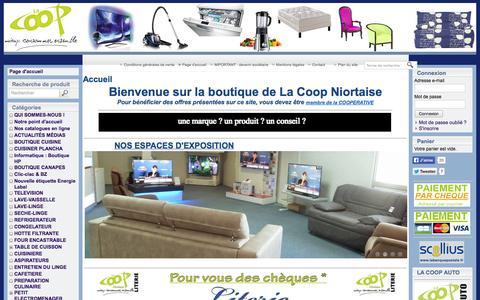 Screenshot of Home Page lacoop-niortaise.fr - Electromenager TV matelas canape les marques aux meilleurs prix - captured Sept. 26, 2014