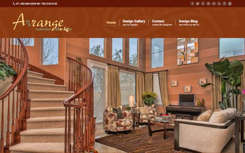 Screenshot of Home Page arrangenow.com - Arrange Interior Design Las Vegas, NV – St. George, UT – Design in St. George, Utah and Las Vegas, Nevada - captured Oct. 8, 2017