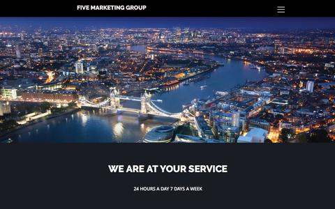 Screenshot of Services Page fivemarketinggroup.co.uk - SERVICES - captured March 16, 2016