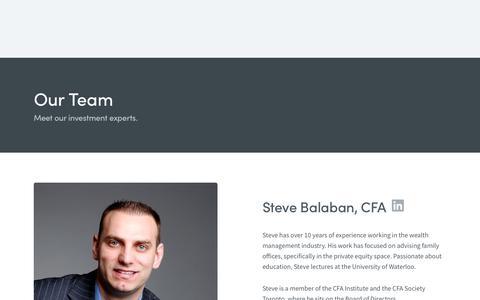 Screenshot of Team Page wealthmanagementcanada.com - Team   Wealth Management Canada - captured Oct. 20, 2018