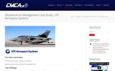 Screenshot of Case Studies Page cmcauk.co.uk - Obsolescence Management Case Study- UTC Aerospace Systems - CMCA - captured Sept. 26, 2014