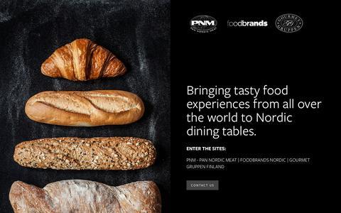 Screenshot of Home Page pnm.eu - PNM - Pan Nordic Meat - captured Sept. 26, 2018