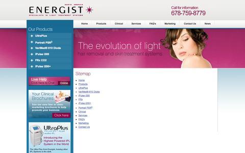 Screenshot of Site Map Page energistna.com - Energist | Sitemap - captured Oct. 2, 2014