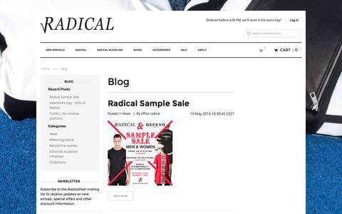 Screenshot of Blog radicalfash.com - Blog - captured Aug. 11, 2016