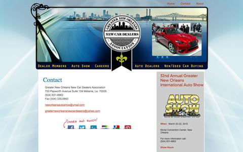 Screenshot of Contact Page neworleansauto.com - Greater New Orleans New Car Dealers Association | Greater New Orleans New Car Dealers Association - captured Oct. 3, 2014