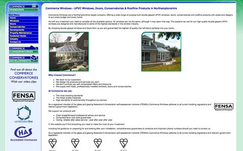 Screenshot of Home Page commercewindows.co.uk - Commerce Windows - Double glazed windows doors conservatories - captured Oct. 2, 2014