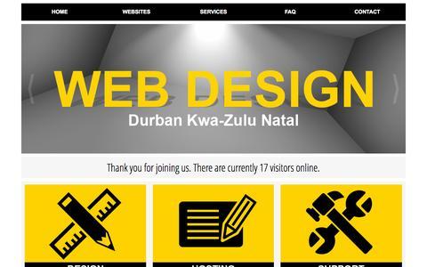 Screenshot of Home Page southafricanwebsitedesigner.co.za - WEB DESIGN - WEB DESIGNER - Durban, Ethekwini, KwaZulu-Natal, South Africa - captured Oct. 7, 2015