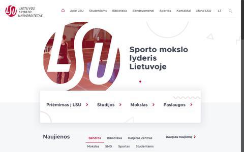 Lietuvos sporto universitetas - Lietuvo sporto universitetas