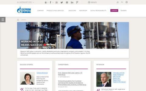 Screenshot of Jobs Page gazprom-neft.com - Careers - Gazprom Neft PJSC - captured Jan. 26, 2016