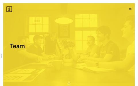 Screenshot of Team Page subism.co.uk - Subism - Team - captured Sept. 21, 2018