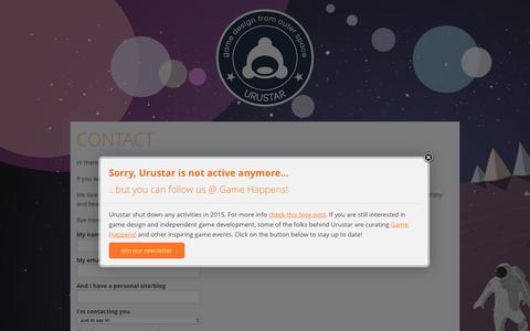 Screenshot of Contact Page urustar.net - Contact | Urustar - captured Dec. 8, 2016