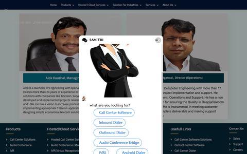 Screenshot of About Page deepijatel.com - Call Center Solutions   Call Center Software   IVR Software   Call Center Dialer - captured July 27, 2019