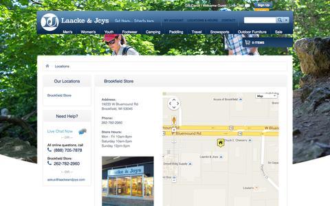 Screenshot of Locations Page ljoutdoors.com - Locations | Laacke & Joys - captured Oct. 1, 2014