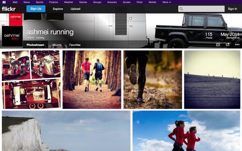 Screenshot of Flickr Page flickr.com - Flickr: ashmei - running's Photostream - captured Oct. 23, 2014
