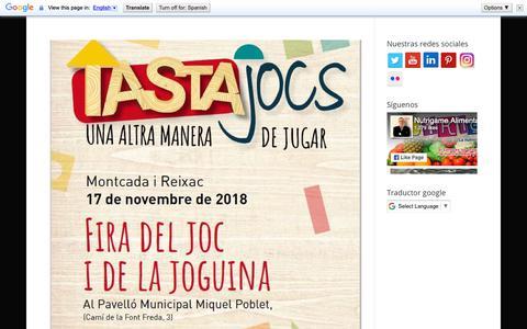 Screenshot of Blog nutrigame.es - Blog - captured Nov. 17, 2018