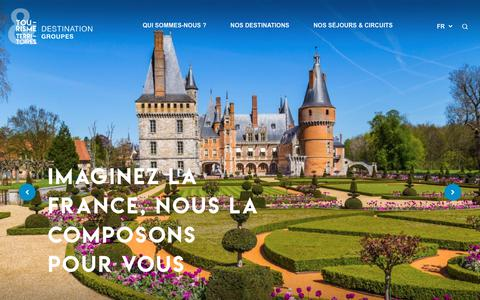 Screenshot of Home Page destination-groupes.net - Accueil - Destination Groupes, une marque de Tourisme & Territoires - captured Oct. 23, 2018