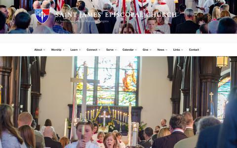 Screenshot of Services Page saintjameswarrenton.org - Worship Services   Saint James' Episcopal Church - captured Oct. 4, 2017