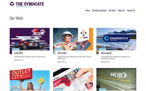 Screenshot of Case Studies Page thesyndicate.co.nz - Our Work – The Syndicate - captured June 15, 2017