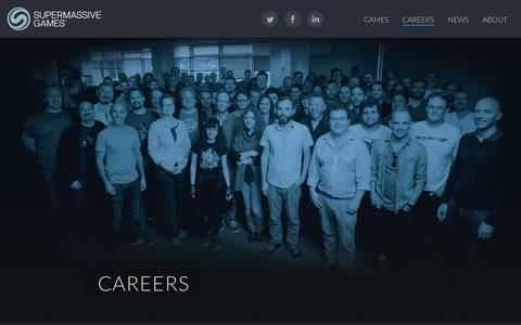 Screenshot of Jobs Page supermassivegames.com - Supermassive Games - Careers - Supermassive Games - captured Oct. 27, 2017