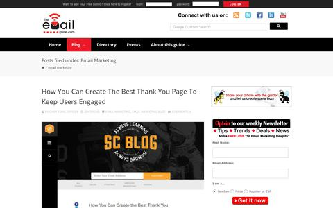 Screenshot of Blog theemailguide.com - Email Marketing | The eMail Guide - captured June 30, 2017