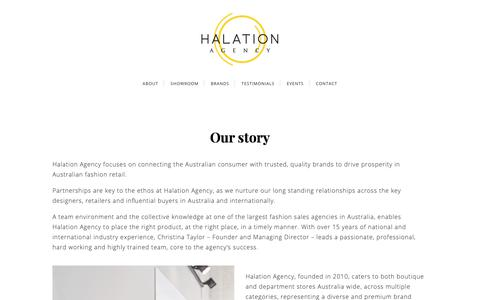 Screenshot of About Page halationagency.com - About - Halation Agency - captured Nov. 4, 2018