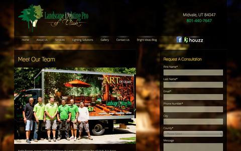 Screenshot of Team Page utahlights.com - Our Team   Landscape Lighting Salt Lake City Park City Utah - captured Dec. 6, 2015