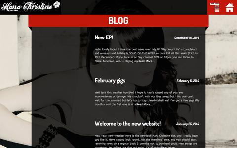 Screenshot of Blog hanachristine.co.uk - BLOG «  Hana Christine - captured March 29, 2016