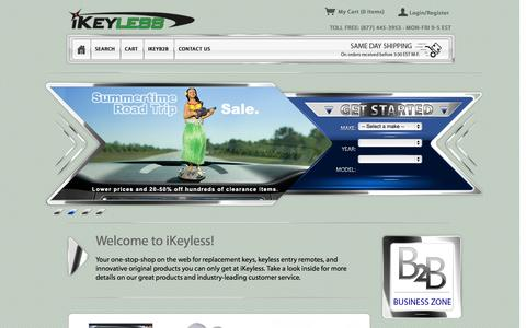 Screenshot of Home Page ikeyless.com - iKeyless | Replacement Car Keys and Keyless Entry Remotes - captured Sept. 23, 2014