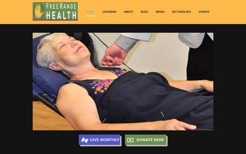 Screenshot of Home Page freerangehealth.org - Free Range Health FRH Home Page - Free Range Health - captured Aug. 2, 2016