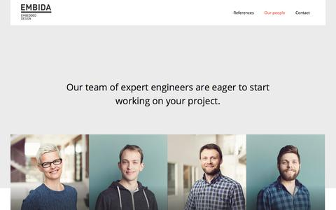 Screenshot of Team Page embida.no - Our people - Embida - captured July 31, 2017