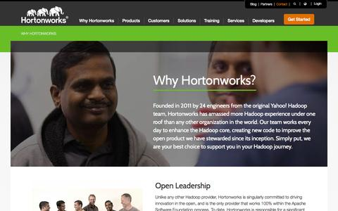 Screenshot of Services Page hortonworks.com - Open Enterprise Hadoop from Hortonworks - captured Oct. 1, 2015
