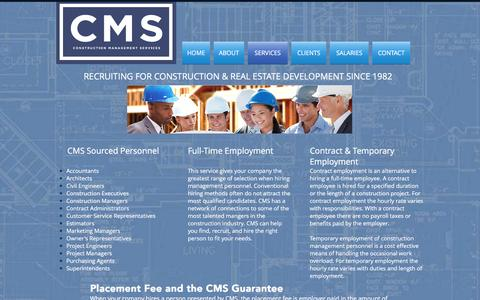Screenshot of Services Page cms-seattle.com - CMS   SERVICES - captured Oct. 7, 2016