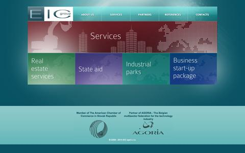 Screenshot of Services Page eastic.sk captured Oct. 1, 2014