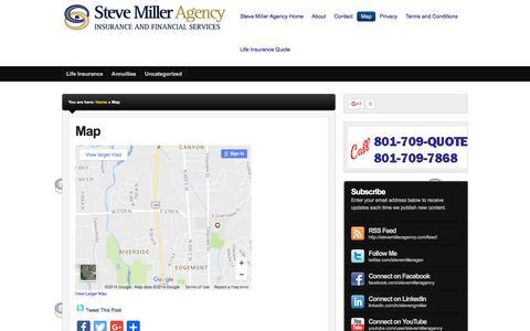 Screenshot of Maps & Directions Page stevemilleragency.com - Map   Steve Miller Agency - captured Dec. 13, 2016