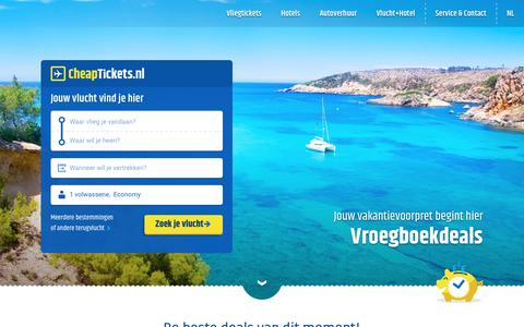 Screenshot of Home Page cheaptickets.nl - Vergelijk goedkope vliegtickets   CheapTickets.nl - captured Jan. 13, 2016