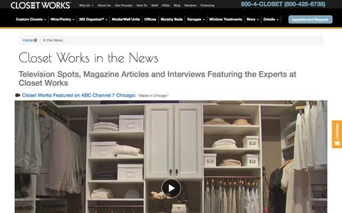 Screenshot of Press Page closetworks.com - Made in the U.S.A. + Creating Jobs - captured July 19, 2018