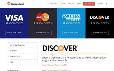 Discover Reason Codes Encyclopedia | Chargeback