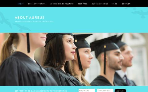 Screenshot of About Page aureusprep.com - About Aureus | Aureus Prep - captured Dec. 27, 2015