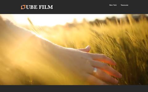 Screenshot of Home Page qubefilm.com - Qube Film - captured Sept. 12, 2015
