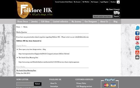 Screenshot of Press Page folklorehk.com - Media    FolkloreHK.com - captured Sept. 30, 2014