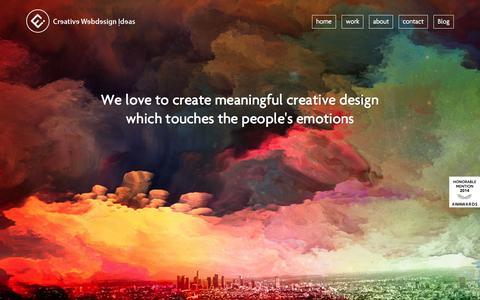 Screenshot of Home Page creativewebdesignideas.com - Creative Web Design Agency  | Digital Marketing Agency - captured Sept. 11, 2015