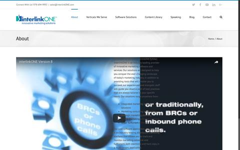 Screenshot of About Page interlinkone.com - About interlinkONE | Software Solutions - captured June 8, 2017