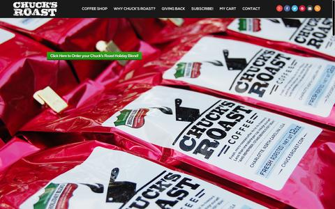 Screenshot of Home Page chucksroast.com - Chuck's Roast Coffee - captured Dec. 8, 2015