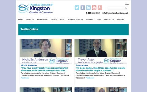 Screenshot of Case Studies Page kingstonchamber.co.uk - Case Studies | Kingston Chamber of Commerce - captured Oct. 14, 2018