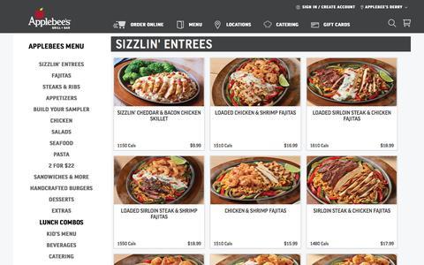 Screenshot of Menu Page applebees.com - Lunch Combos  |  Applebee's - captured Dec. 10, 2019